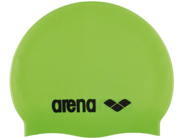 arena Classic Silicone Swimming Cap Barn acid lime-black